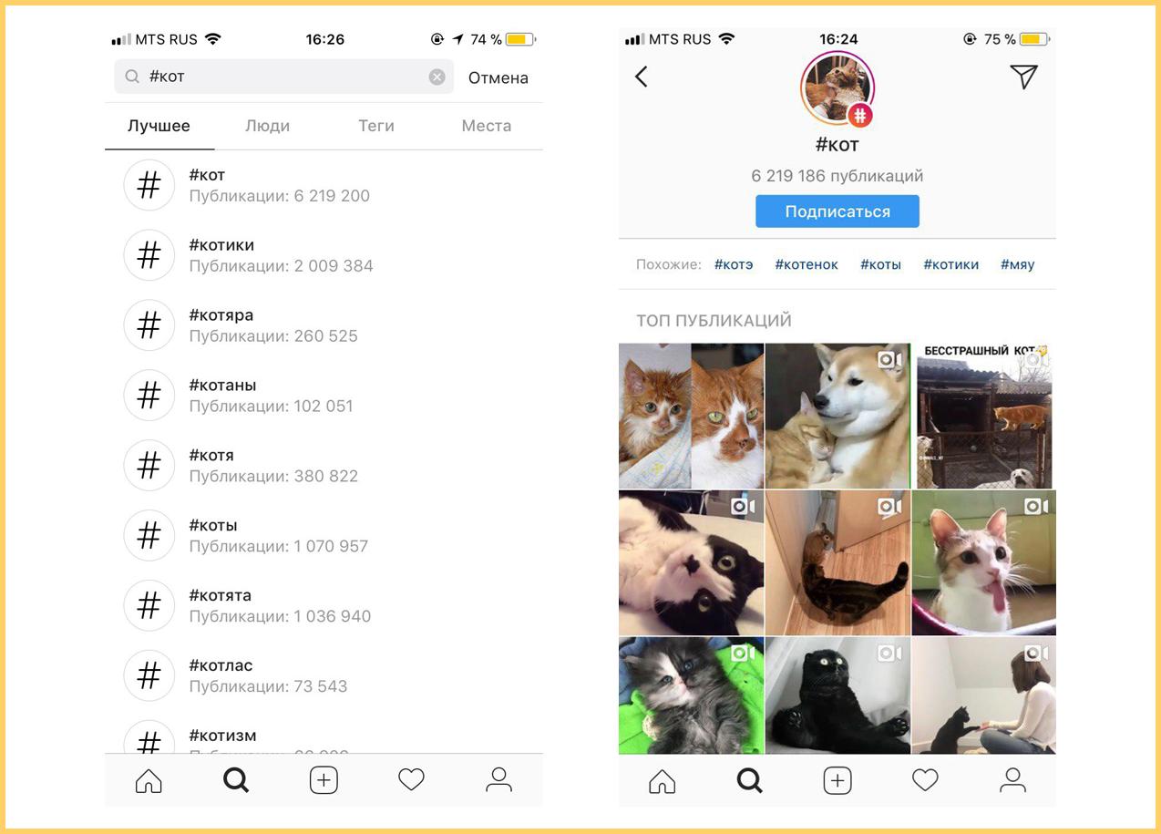 Популярные хештеги в Инстаграме собирают много подписчиков и живого контента