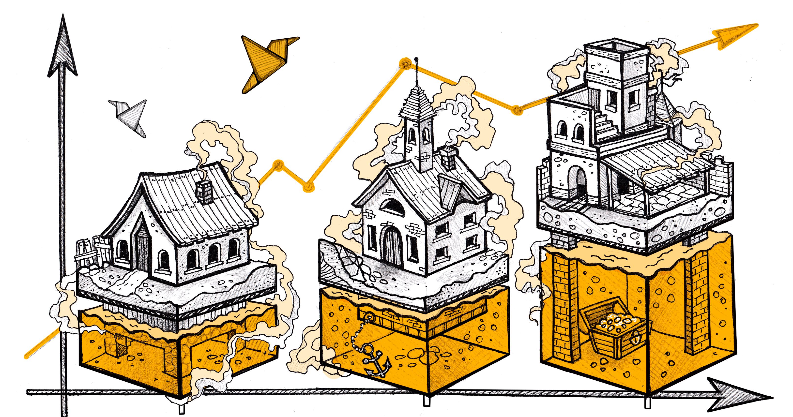 Продвижение сайтов недвижимости в интернете, иллюстрация Callibri