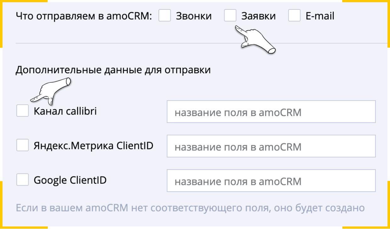 Google ClientID и Яндекс ClientID можно передавать в amoCRM