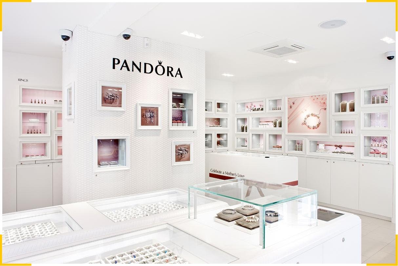 Логотип ювелирного бренда Пандора - не только пример фирменного стиля, но и создает ассоциацию с браслетом