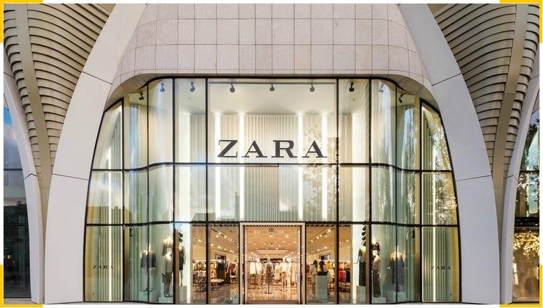 Айдентика бренда Зара отсылает к роскоши благодаря шрифту для логотипа с засечками