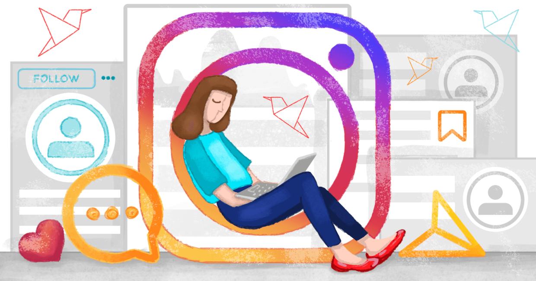 Прямой эфир в Instagram для поиска сотрудников, иллюстрация Callibri