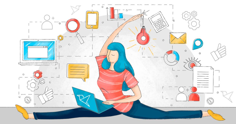 Agile маркетинг позволяет адаптироваться под изменения рынка. Иллюстрация Callibri