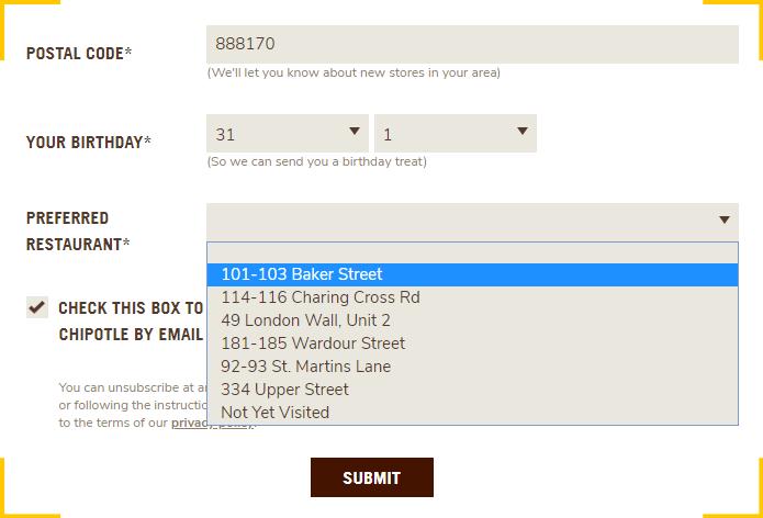 Пример формы подписки на рассылку для сайта