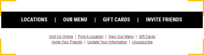 Добавьте в письмо кнопки перехода на сайт, в маркетинге это называется точки контакта