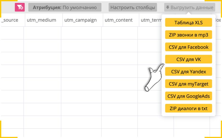 В Callibri есть шаблоны для формирования файлов ретаргетинга из тех, кто недавно обращался в компанию