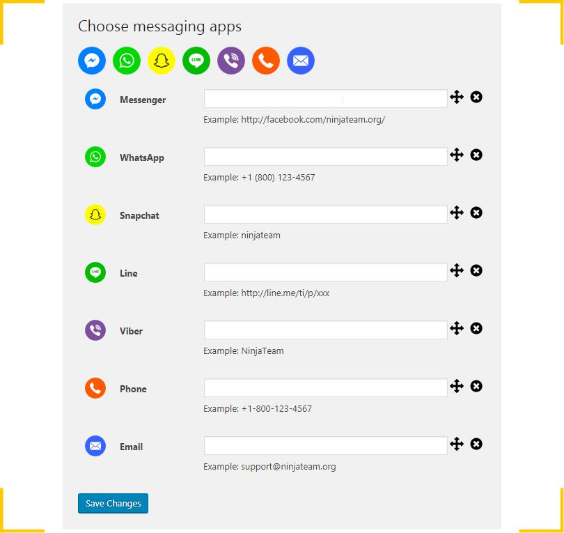 Скриншот настроек плагина Ninja Team Support All-In-One для WordPress