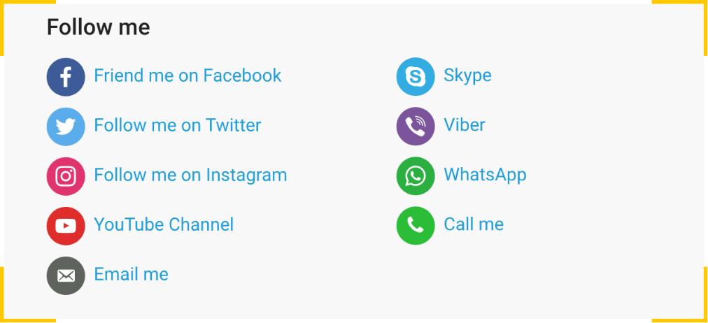 С помощью плагина Social Media Icons Widget вы можете добавить социальные кнопки на сайт WordPress