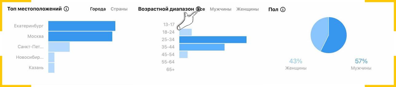 Данные о демографии подписчиков в соцсетях могут отличаться - это тоже характеристика аудитории