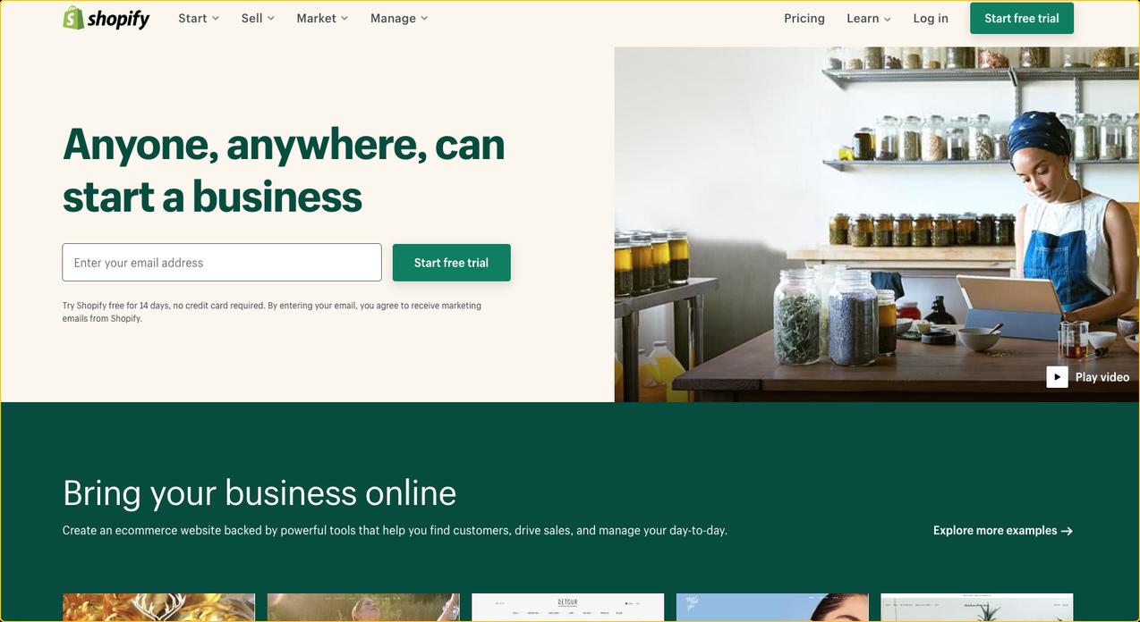 Как сделать интернет-магазин на shopify