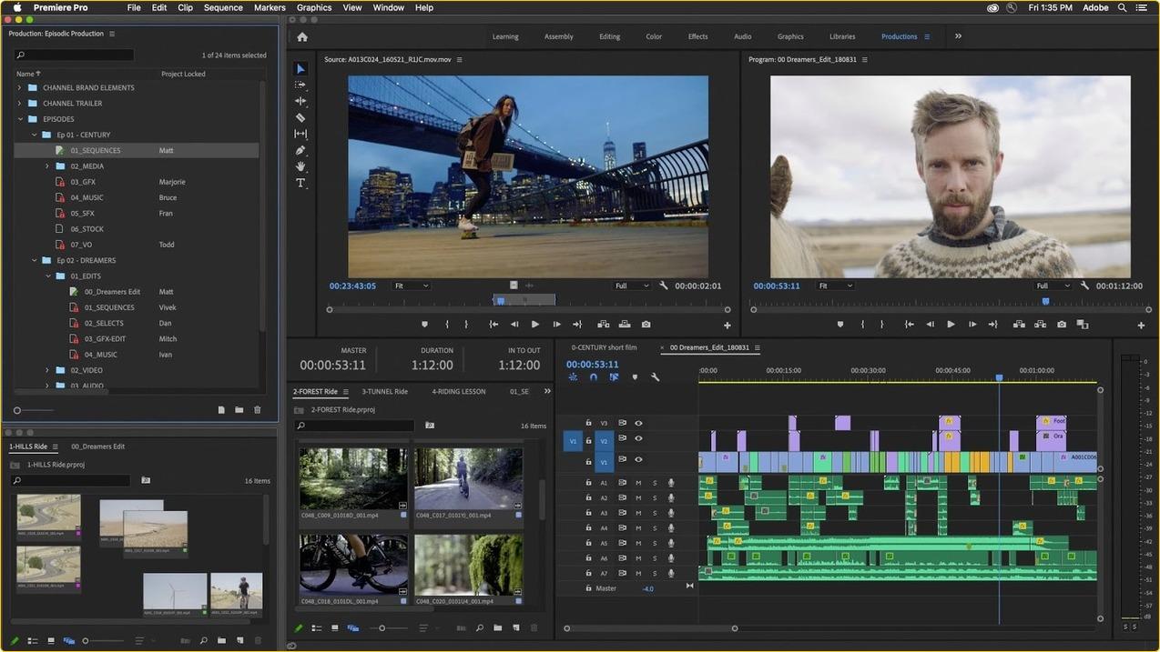 Как создать ролик в Adobe Premiere Pro