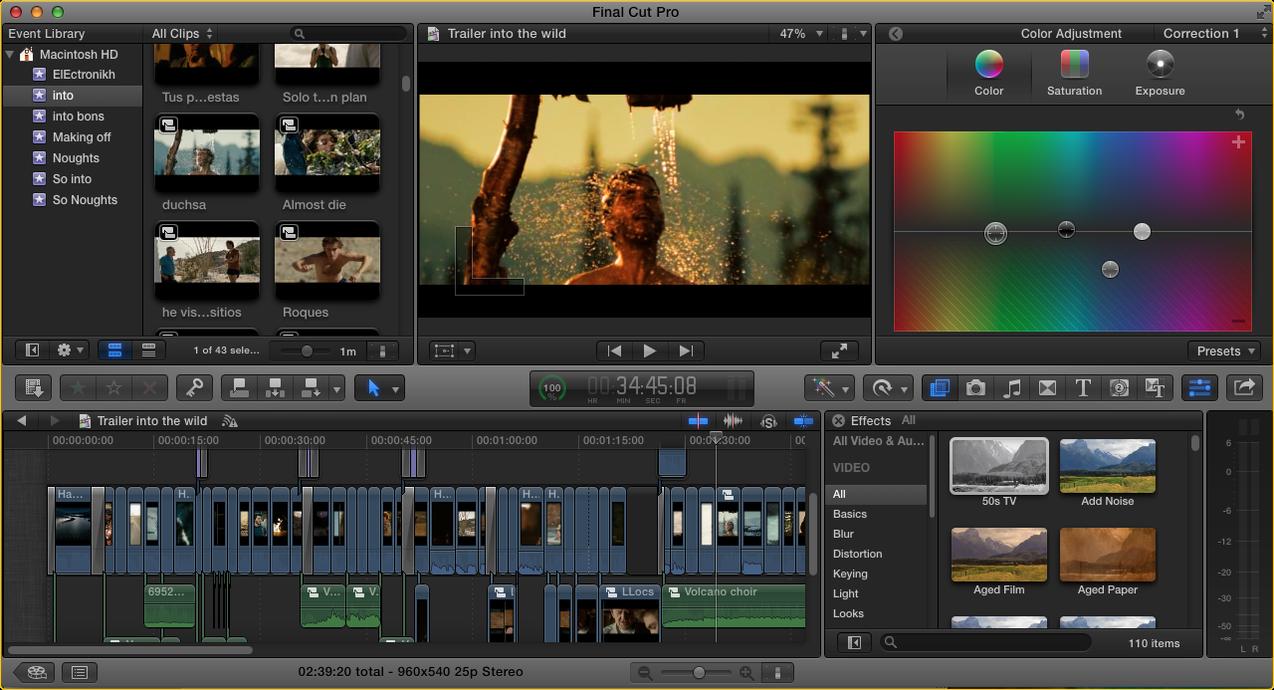Как сделать видеорекламу в Final Cut Pro