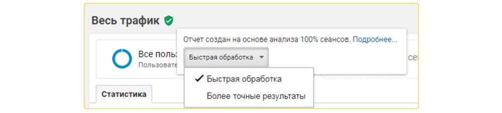 Сэмплирование в Google Analytics 4