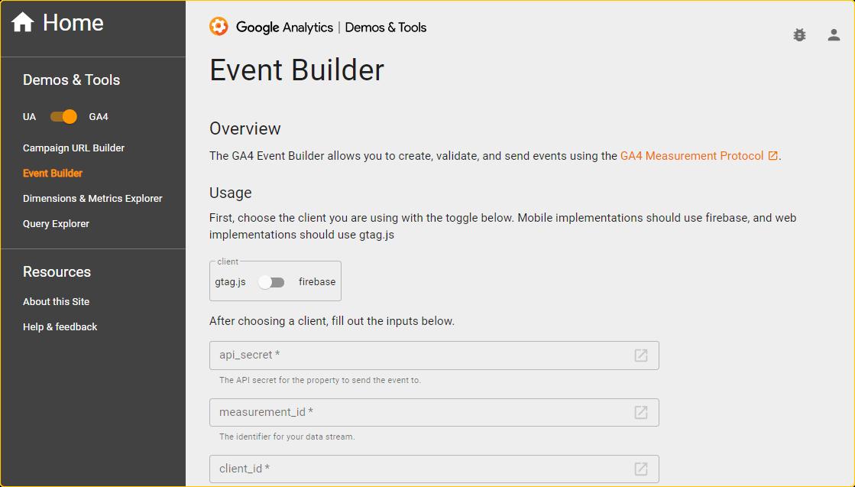 что такое Event Builder в GA4